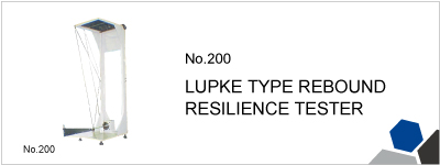 No.200 LUPKE TYPE REBOUND RESILIENCE TESTER