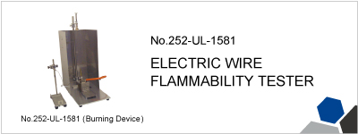 252-UL-1581 ELECTRIC WIRE FLAMMABILITY TESTER