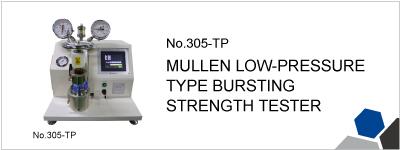 No.305-TP MULLEN LOW-PRESSURE TYPE BURSTING STRENGTH TESTER