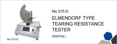 No.315-D ELMENDORF TYPE TEARING RESISTANCE TESTER