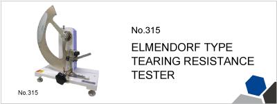No.315 ELMENDORF TYPE TEARING RESISTANCE TESTER