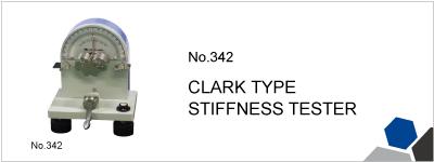 No.342 CLARK TYPE STIFFNESS TESTER