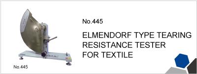 No.445 ELMENDORF TYPE TEARING RESISTANCE TESTER FOR TEXTILE