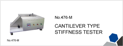 No.476-M CANTILEVER TYPE STIFFNESS TESTER