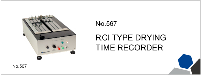 No.567 RCI TYPE DRYING TIME RECORDER