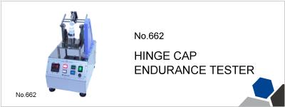 No.662 HINGE CAP ENDURANCE TESTER