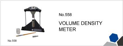 No.558 VOLUME DENSITY METER